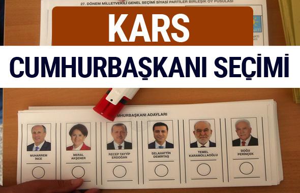 Kars Cumhurbaşkanları oy oranları YSK Sandık sonuçları