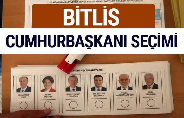 Bitlis Cumhurbaşkanları oy oranları YSK Sandık sonuçları