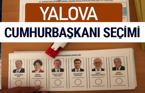 Yalova Cumhurbaşkanları oy oranları YSK Sandık sonuçları