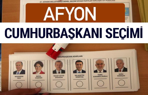 Afyon Cumhurbaşkanları oy oranları YSK Sandık sonuçları