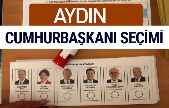 Aydın Cumhurbaşkanları oy oranları YSK Sandık sonuçları