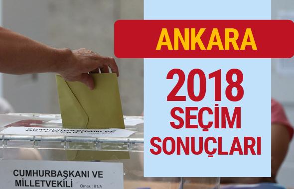 Ankara'nın Seçim Sonuçları - Genel Seçim 2018 Ankara son durum