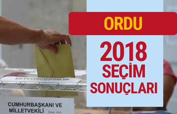 Ordu 2018 seçim sonucu Ordu milletvekilleri sonuçları