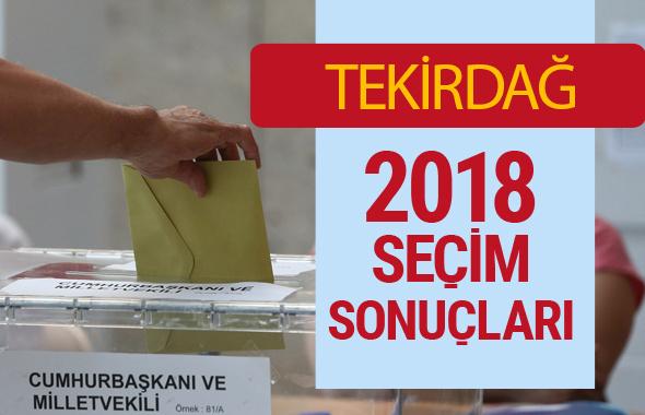 Tekirdağ Seçim Sonuçları - Genel Seçim 2018 Tekirdağ Sonucu son bilgi