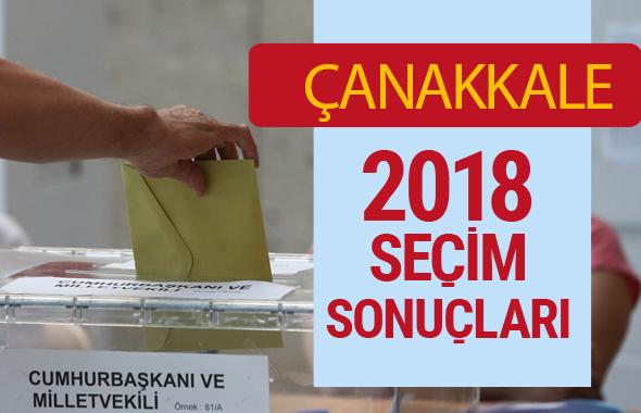 Çanakkale Seçim Sonuçları - Genel Seçim 2018 Çanakkale Sonucu kim aldı?