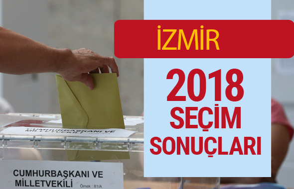 İzmir Seçim Sonuçları - Genel Seçim 2018 İzmir Sonucu oy oranları
