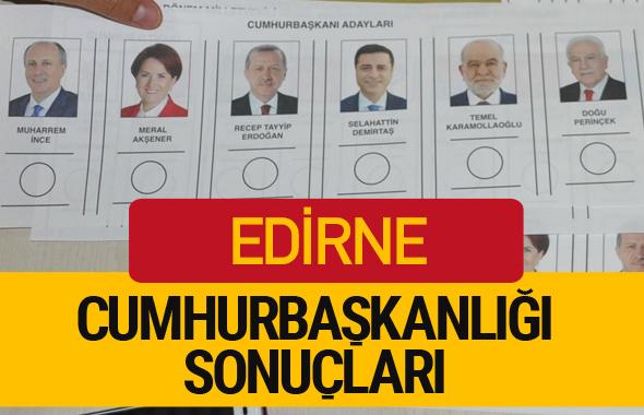 Edirne Cumhurbaşkanlığı seçim sonucu 2018 Edirne sonuçları