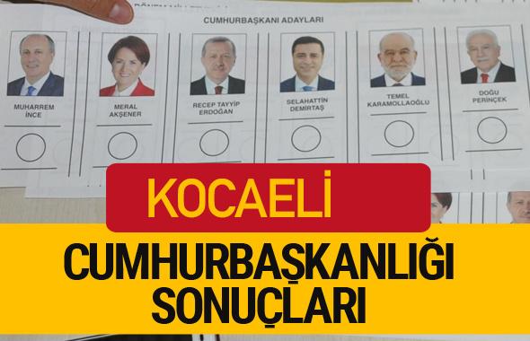 Kocaeli Cumhurbaşkanlığı seçim sonucu 2018 Kocaeli sonuçları