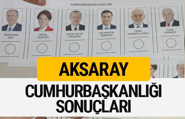 Aksaray Cumhurbaşkanlığı seçim sonucu 2018 Aksaray sonuçları