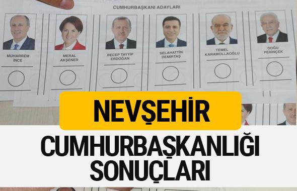 Nevşehir Cumhurbaşkanlığı seçim sonucu 2018 Nevşehir sonuçları