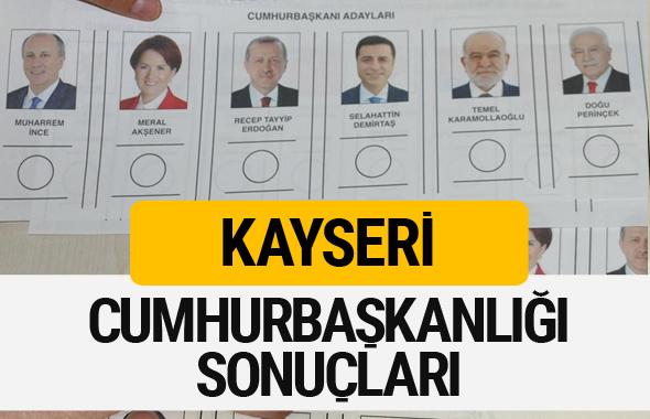 Kayseri Cumhurbaşkanlığı seçim sonucu 2018 Kayseri sonuçları