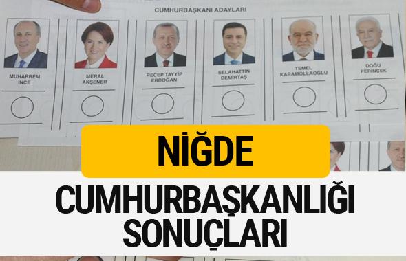 Niğde Cumhurbaşkanlığı seçim sonucu 2018 Niğde sonuçları