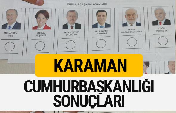 Karaman Cumhurbaşkanlığı seçim sonucu 2018 Karaman sonuçları