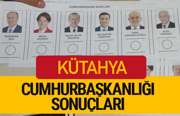 Kütahya Cumhurbaşkanlığı seçim sonucu 2018 Kütahya sonuçları