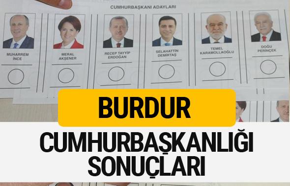 Burdur Cumhurbaşkanlığı seçim sonucu 2018 Burdur sonuçları