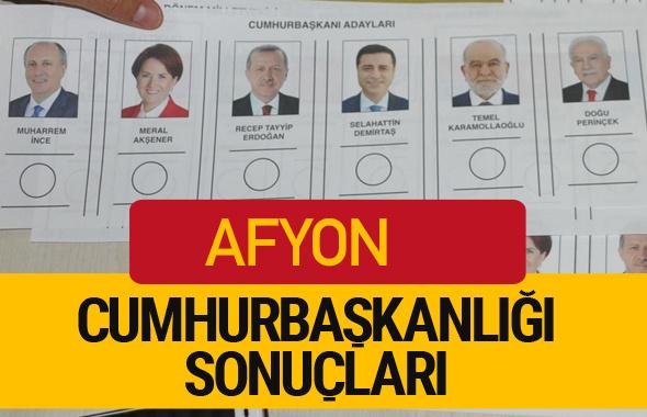 Afyon Cumhurbaşkanlığı seçim sonucu 2018 Afyon sonuçları