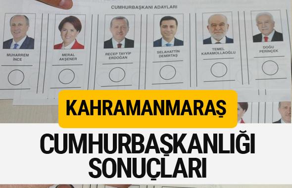 Kahramanmaraş Cumhurbaşkanlığı seçim sonucu 2018 Kahramanmaraş sonuçları