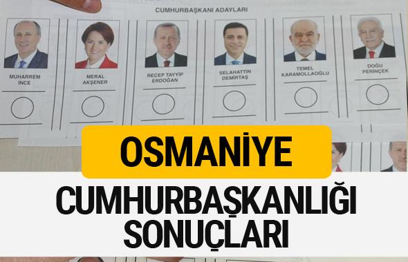 Osmaniye Cumhurbaşkanlığı seçim sonucu 2018 Osmaniye sonuçları