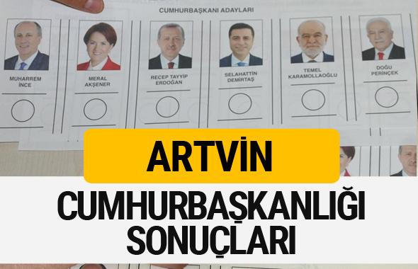 Artvin Cumhurbaşkanlığı seçim sonucu 2018 Artvin sonuçları