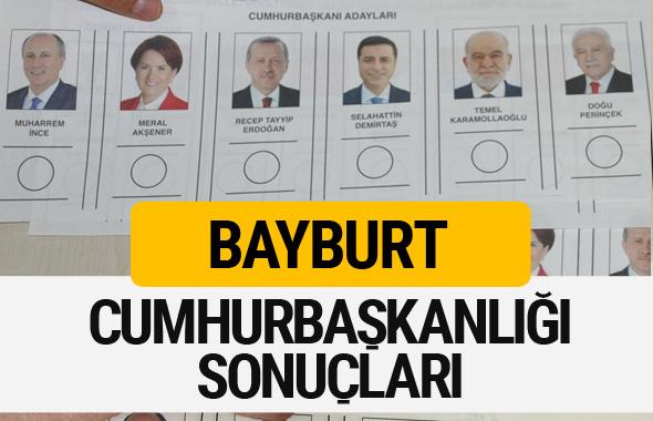 Bayburt Cumhurbaşkanlığı seçim sonucu 2018 Bayburt sonuçları