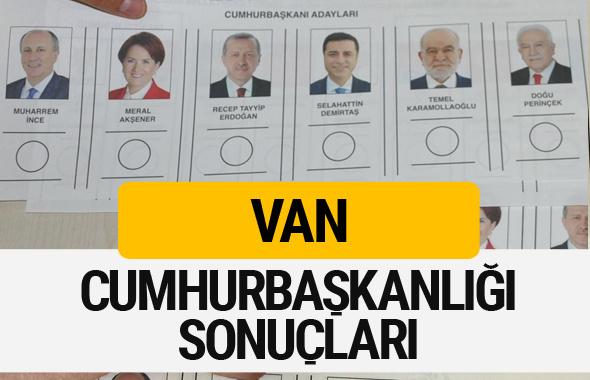 Van Cumhurbaşkanlığı seçim sonucu 2018 Van sonuçları