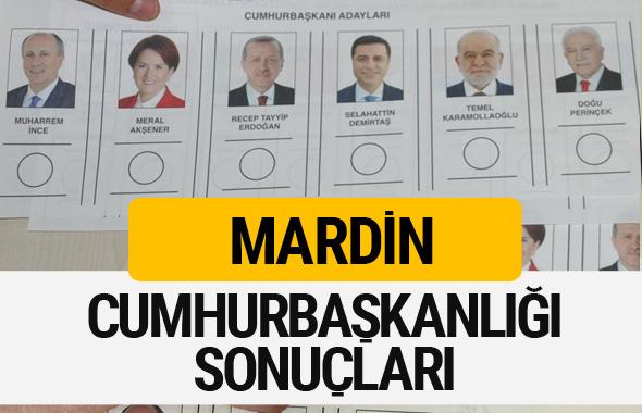 Mardin Cumhurbaşkanlığı seçim sonucu 2018 Mardin sonuçları