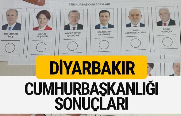 Diyarbakır Cumhurbaşkanlığı seçim sonucu 2018 Diyarbakır sonuçları