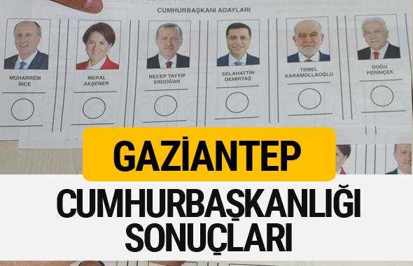 Gaziantep Cumhurbaşkanlığı seçim sonucu 2018 Gaziantep sonuçları