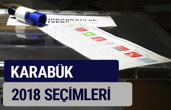 Karabük oy oranları partilerin ittifak oy sonuçları 2018 - Karabük