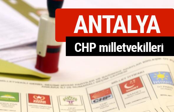 CHP Antalya Milletvekilleri 2018 - 27. dönem Antalya listesi