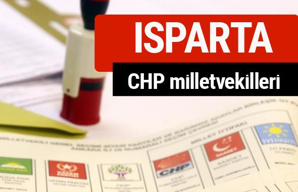 CHP Isparta Milletvekilleri 2018 - 27. dönem Isparta listesi