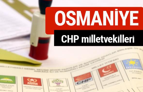 CHP Osmaniye Milletvekilleri 2018 - 27. dönem Osmaniye listesi