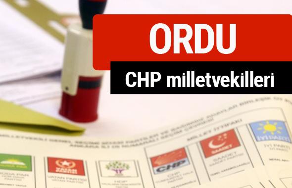 CHP Ordu Milletvekilleri 2018 - 27. dönem Ordu listesi