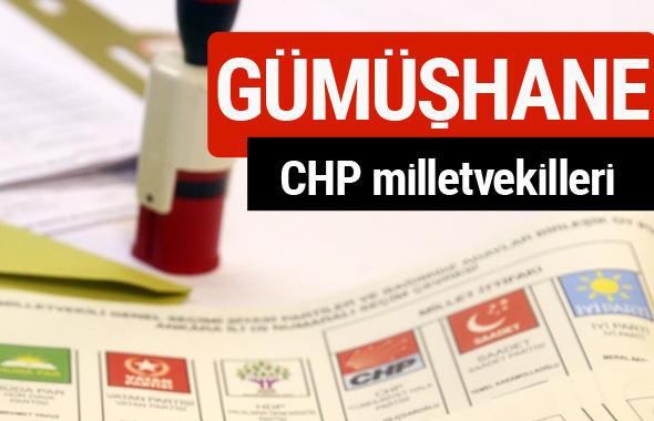 CHP Gümüşhane Milletvekilleri 2018 - 27. dönem Gümüşhane listesi