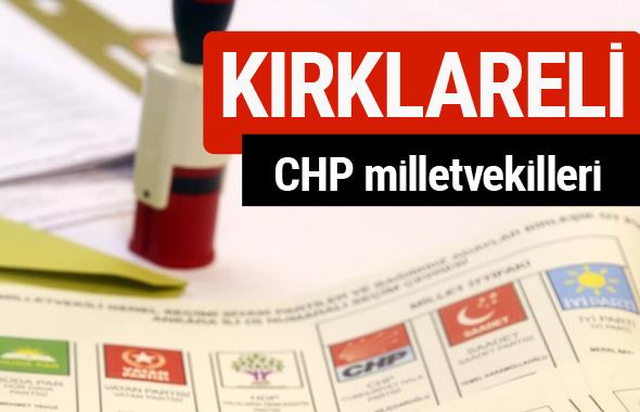 CHP Kırklareli Milletvekilleri 2018 - 27. dönem Kırklareli listesi