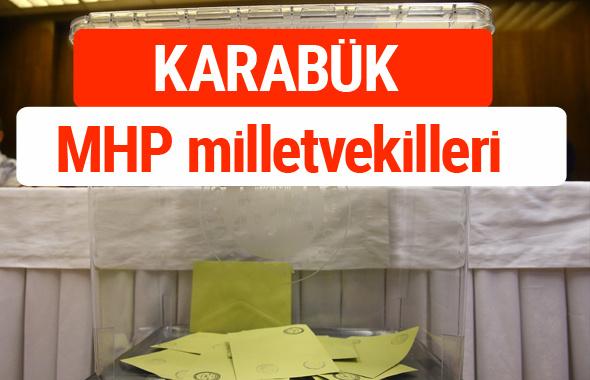 MHP Karabük Milletvekilleri 2018 -27. Dönem listesi