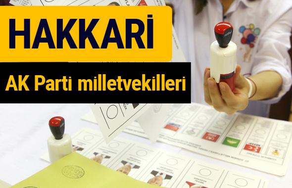 AK Parti Hakkari Milletvekilleri 2018 - 27. dönem AKP isim listesi