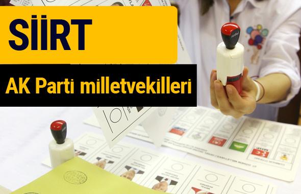AK Parti Siirt Milletvekilleri 2018 - 27. dönem AKP isim listesi