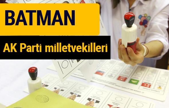 AK Parti Batman Milletvekilleri 2018 - 27. dönem AKP isim listesi