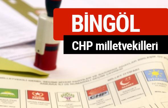 CHP Bingöl Milletvekilleri 2018 - 27. dönem Bingöl listesi