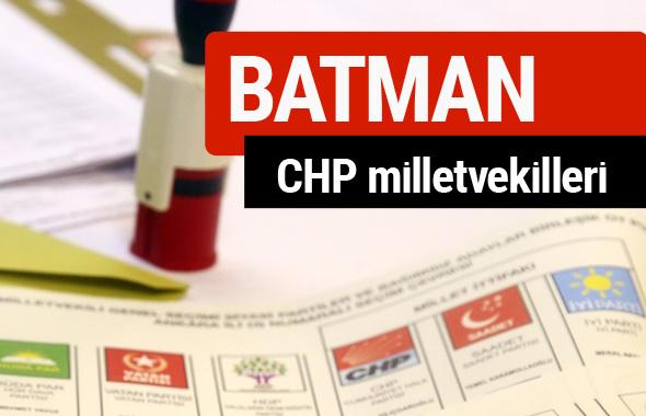 CHP Batman Milletvekilleri 2018 - 27. dönem Batman listesi