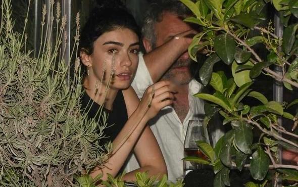 Hazar Ergüçlü 19 yaş büyük aşkıyla sarmaş dolaş yakalandı