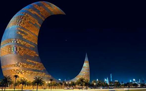 Dubai'ye dev hilal şeklinde bina