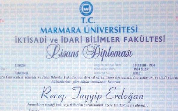 İşte Erdoğan'ın diploması Nagehan Alçı paylaştı