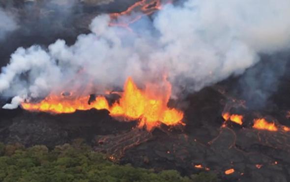 Hawaii'de lavlar 117 evi yok etti