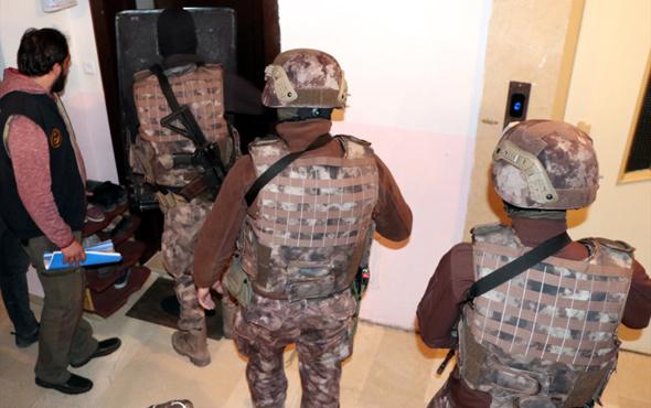 Erzurum'da terör operasyonu 5 şüpheli yakalandı