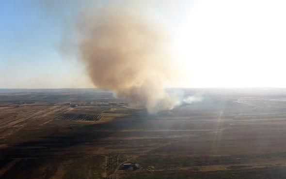 YPG Tel Rıfatlıların ev ve arazilerini yakıyor