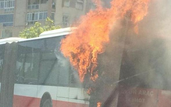 Belediye otobüsü alev alev yandı! Facia kıl payı atlatıldı
