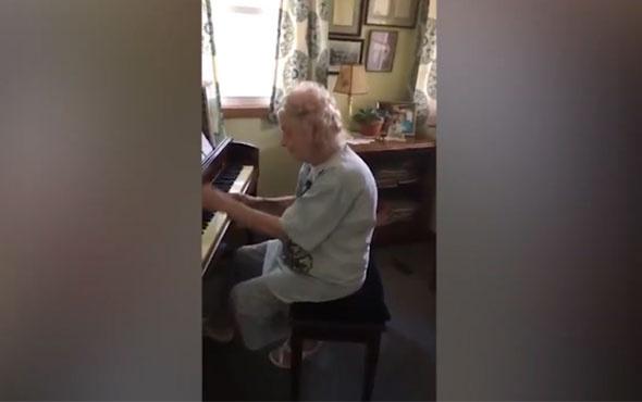 104 yaşındaki emekli müzik öğretmeninden olağanüstü bir piyano resitali!