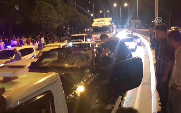 Otomobilin çarptığı baba ve kızı kurtarılamadı